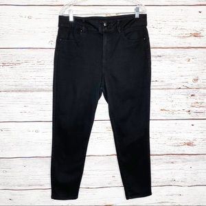 d. jeans high rise black skinny ankle jeans